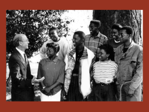President Reike with the Namibian Students in the 1980s.